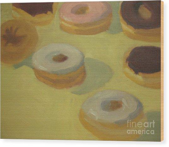 Donuts Wood Print by Sharon Hollander