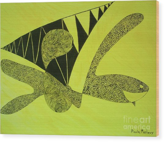 Doodlewat3 Wood Print