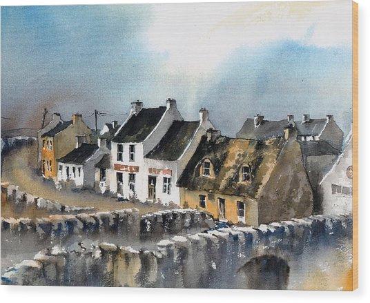 Clare Doolin Village  Wood Print