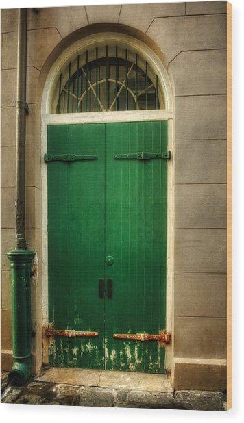 Door And Pipe Wood Print