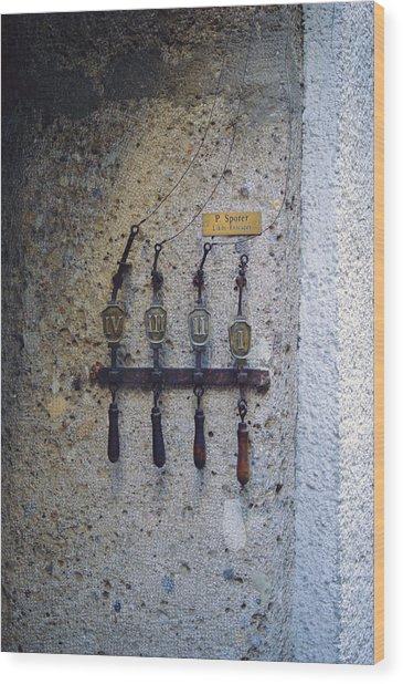 Door Bells Wood Print