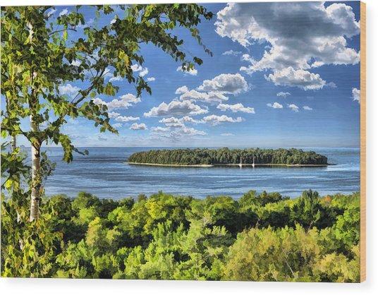 Door County Horseshoe Island Wood Print