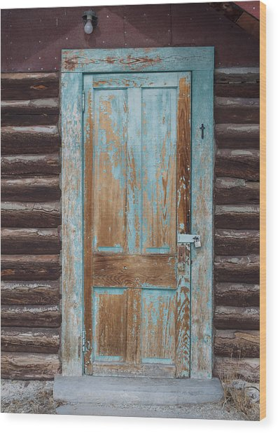 Door One Wood Print