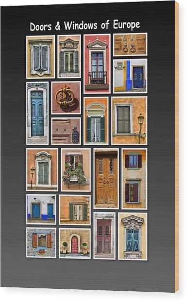 Doors And Windows Of Europe Wood Print