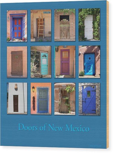 Doors Of New Mexico Wood Print
