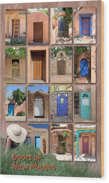 Doors Of New Mexico II Wood Print