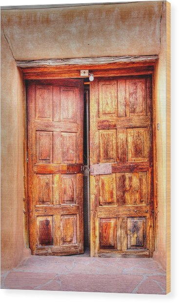 Doors To The Inner Santuario De Chimayo Wood Print