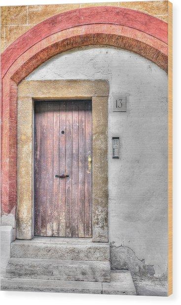 Doorway 13 Wood Print