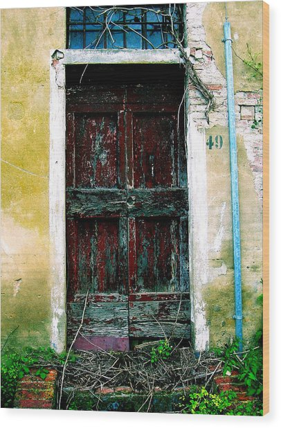 Doorway 49 Wood Print