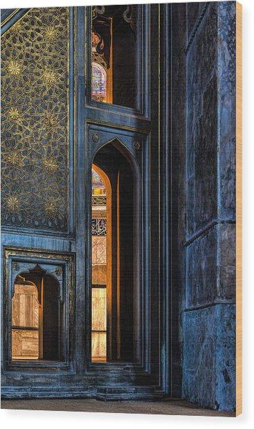 Doorway In The Blue Mosque Wood Print