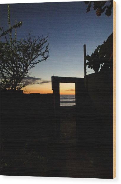 Doorway To Dusk Wood Print