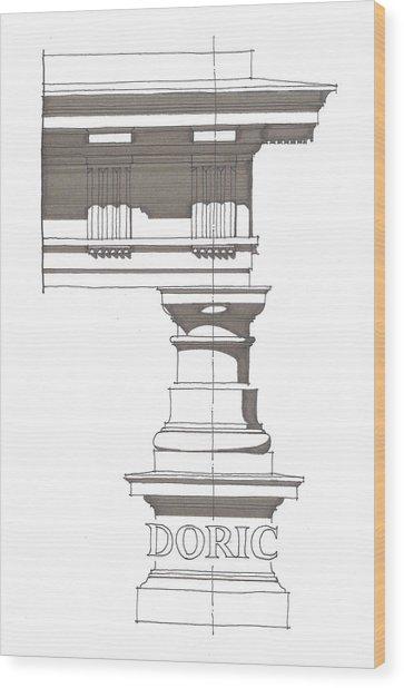 Doric Order Wood Print