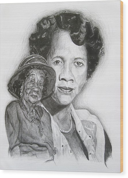 Dorothy Height - Double Portrait Wood Print