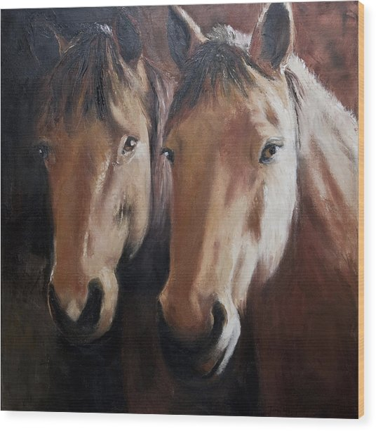 Dos Equis Wood Print by Terri  Meyer