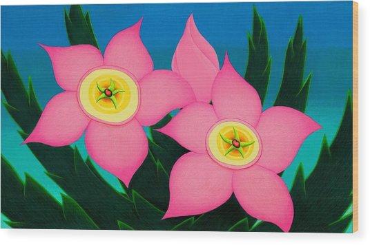 Dos Flores Wood Print