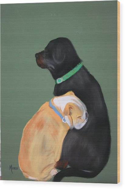 Doser And Cody Wood Print by Michele Turney