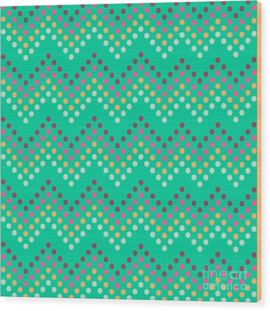 Dotted Lines Zigzag Pattern With Wood Print