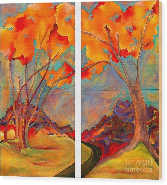 Double Arbor Wood Print
