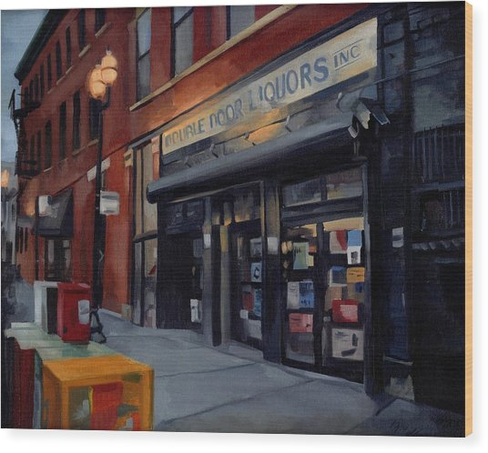 Double Door Wicker Park Bucktown Chicago Wood Print