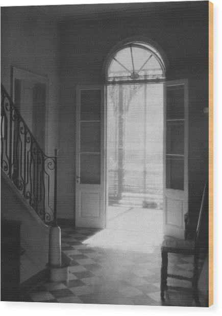 Double Doors In The Home Of Dr. Joseph Weis Wood Print
