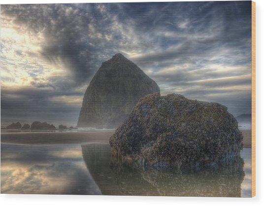Double Rock Wood Print