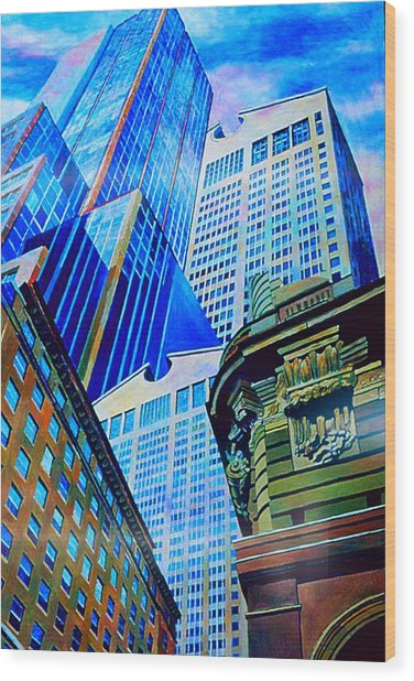 Double Vision Nyc Wood Print