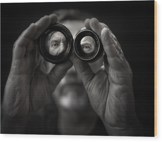 Double Vision Wood Print by Photo by marianna armata