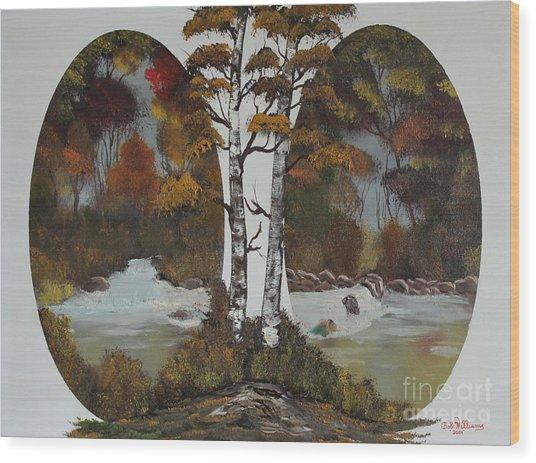 Doubling The Autumn Splendor Wood Print