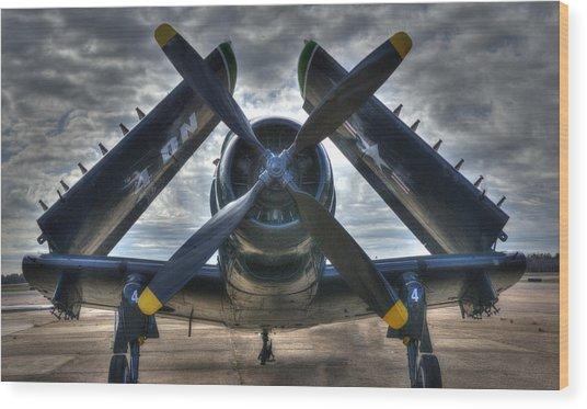 Douglas A1- E Skyraider Wood Print