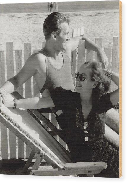 Douglas Fairbanks Jr. With Joan Crawford Wood Print by Edward Steichen