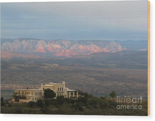 Douglas Mansion And Red Rocks Of Sedona Wood Print
