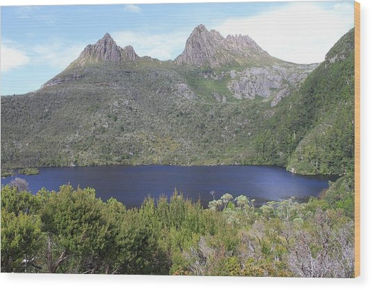 Dove Lake Tasmania All Profits Go To Hospice Of The Calumet Area Wood Print