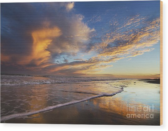 Down By The Seaside Wood Print