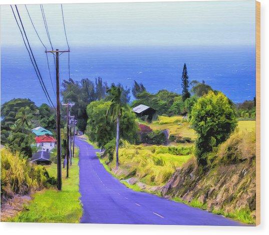 Down Into Honokaa Wood Print