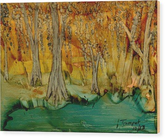Down On The Bayou Wood Print