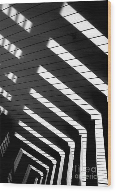 Down Stairs Wood Print