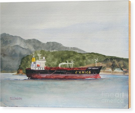 Down The Guemes Channel San Juan Islands Wa Wood Print