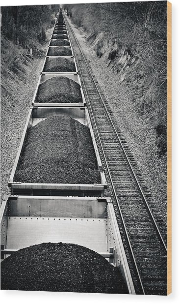 Down The Line Wood Print