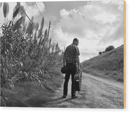 Down The Road Wood Print by Thomas Leon
