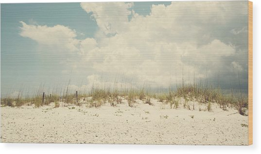 Down The Shore Wood Print by Kate Livingston