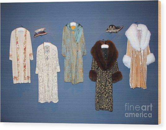 Downton Abbey Clothes Wood Print