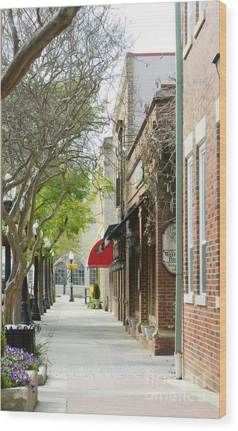 Downtown Aiken South Carolina Wood Print