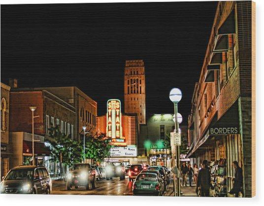 Downtown Ann Arbor Wood Print