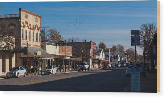 Downtown Boerne Wood Print