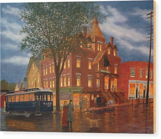 Downtown Bristol Wood Print
