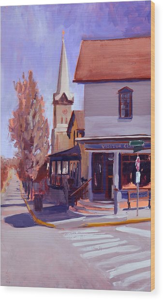 Downtown Cedarburg Wood Print by Anthony Sell
