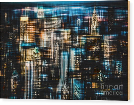 Downtown II - Dark Wood Print