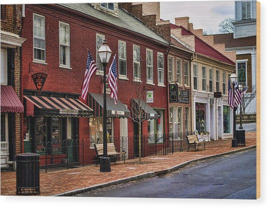 Downtown Jonesborough Tn Wood Print