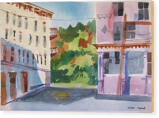 Downtown Kingston New York Wood Print