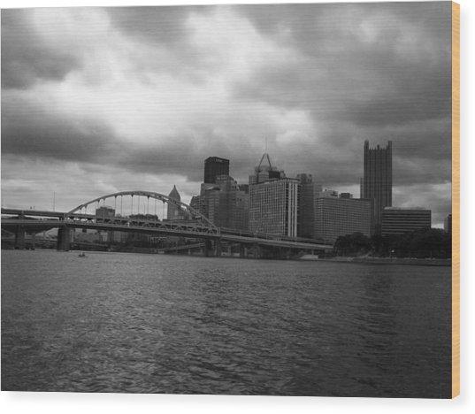 Downtown Pittsburgh Wood Print
